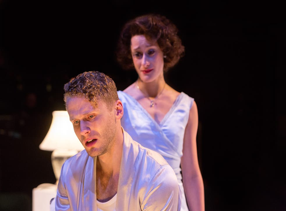 Charles Aitken as Brick and Mariah Gale as Maggie in Cat on a Hot Tin Roof