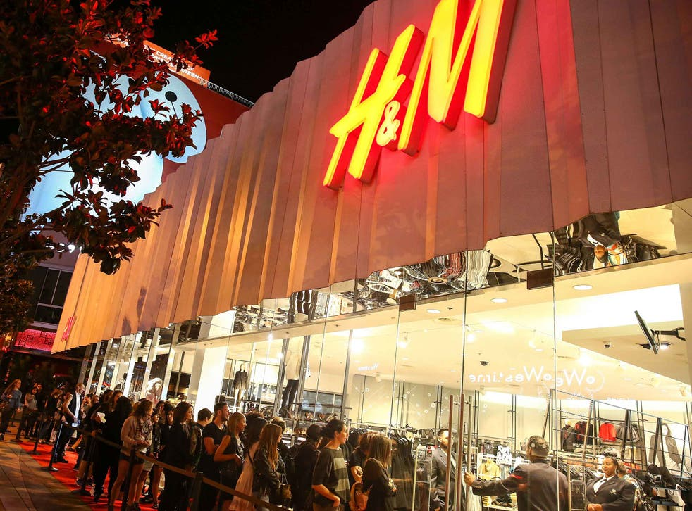 Shoppers waiting for the Alexander Wang x H&M launch