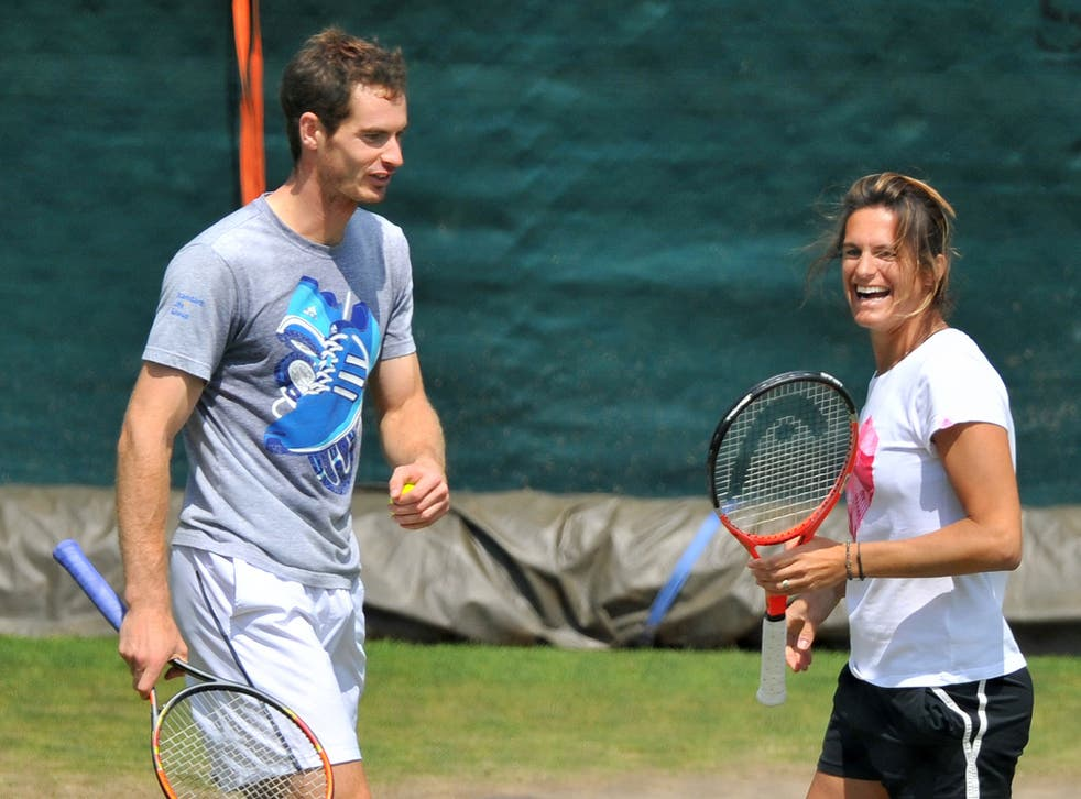 Murray with Amelie Mauresmo