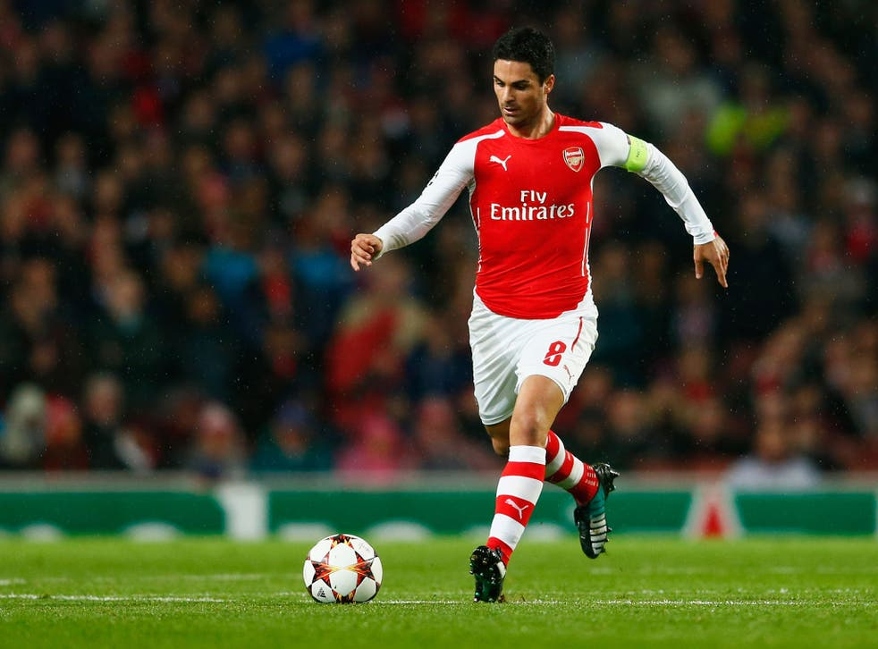 Mikel Arteta picked up a grade one hamstring strain