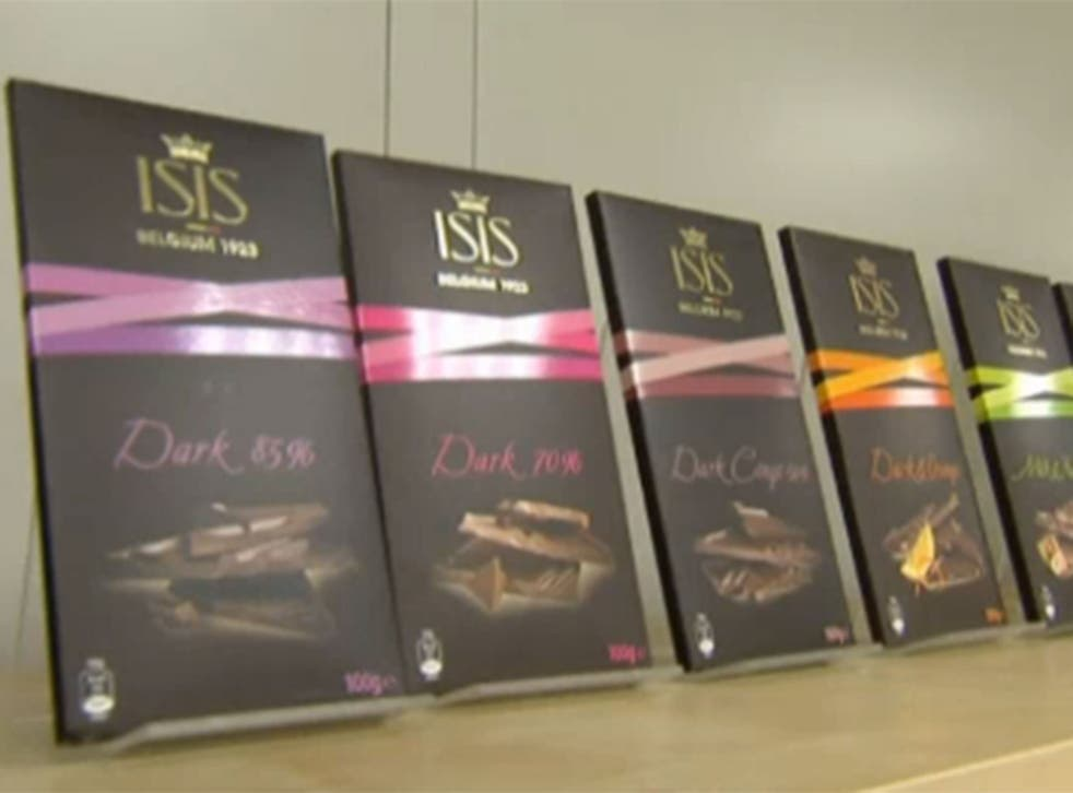 Belgium chocolate maker ISIS changes its name after drop in sales.
