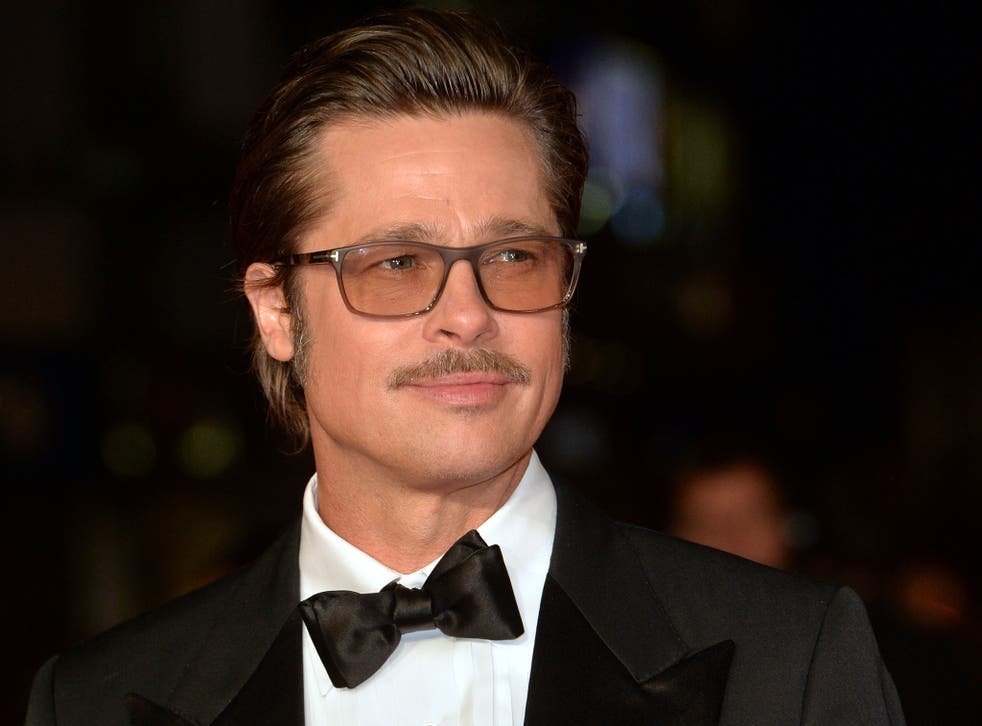 Brad Pitt attends the closing night European Premiere gala red carpet arrivals for 'Fury'