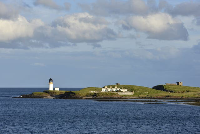 Remote: The lighthouse at the entrance to Stornoway's harbour