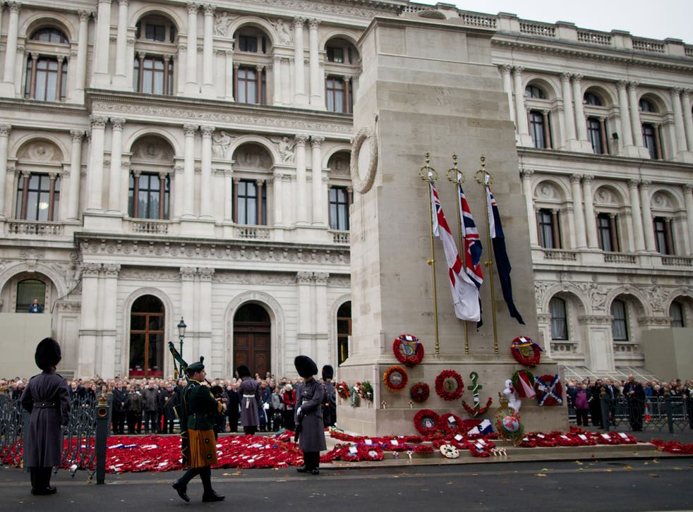 Only parties with more than six MPs may lay wreaths at the Cenotaph