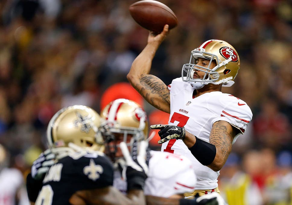 5993e3131 Colin Kaepernick dragged the 49ers from the jaws of defeat to beat the  Saints