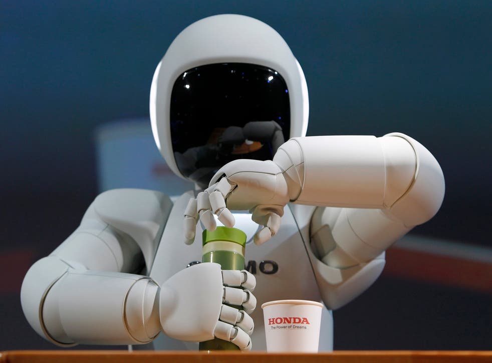 Honda's Asimo robot could one day help care for an aging population - but tablets and spreadsheets are more of a danger to UK workers in the next couple of decades.
