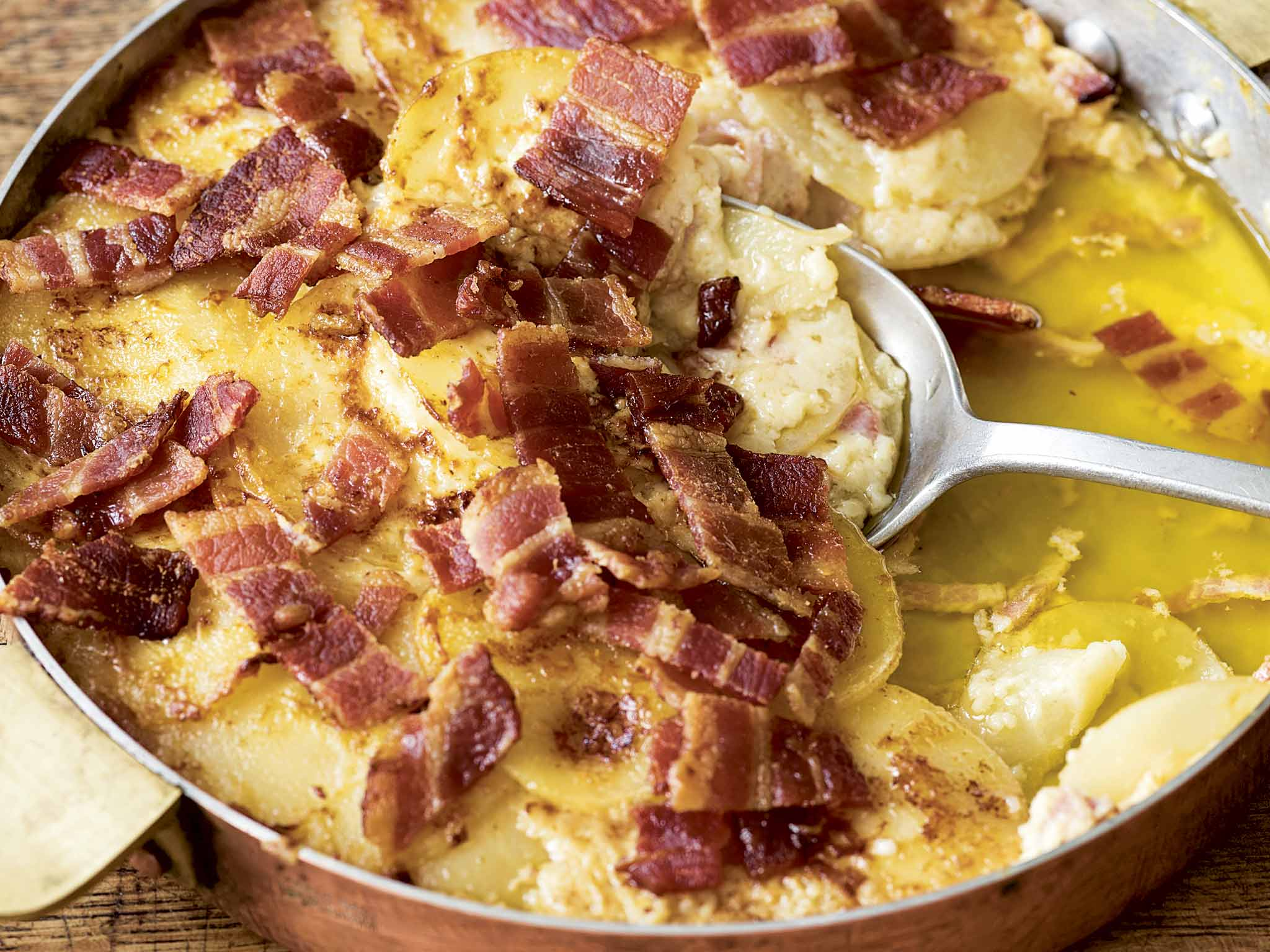 Mark Hix recipes: Parsnip gratin with bacon; Parsnip and Berkswell ...