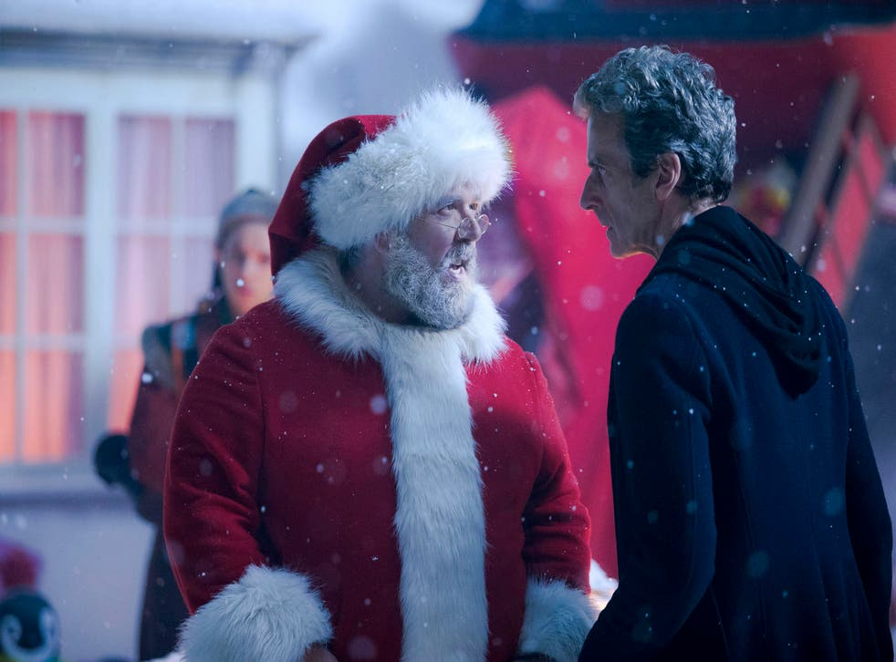 Nick Frost plays Santa Claus in the Doctor Who Christmas special