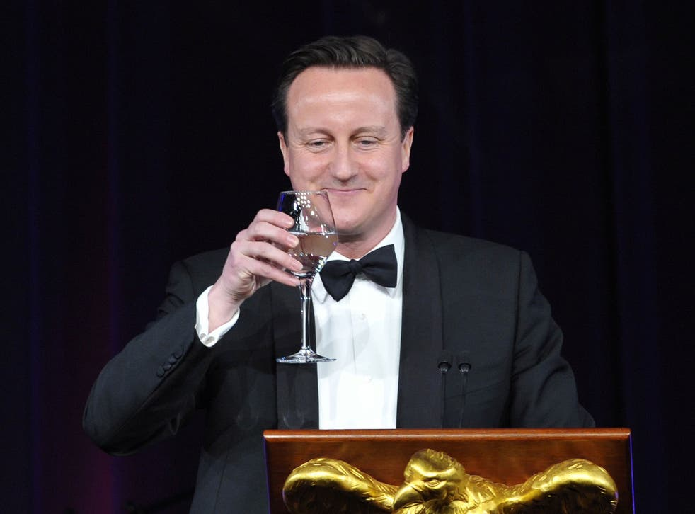 File: David Cameron offers a toast during a State Dinner in his honour March 14, 2012