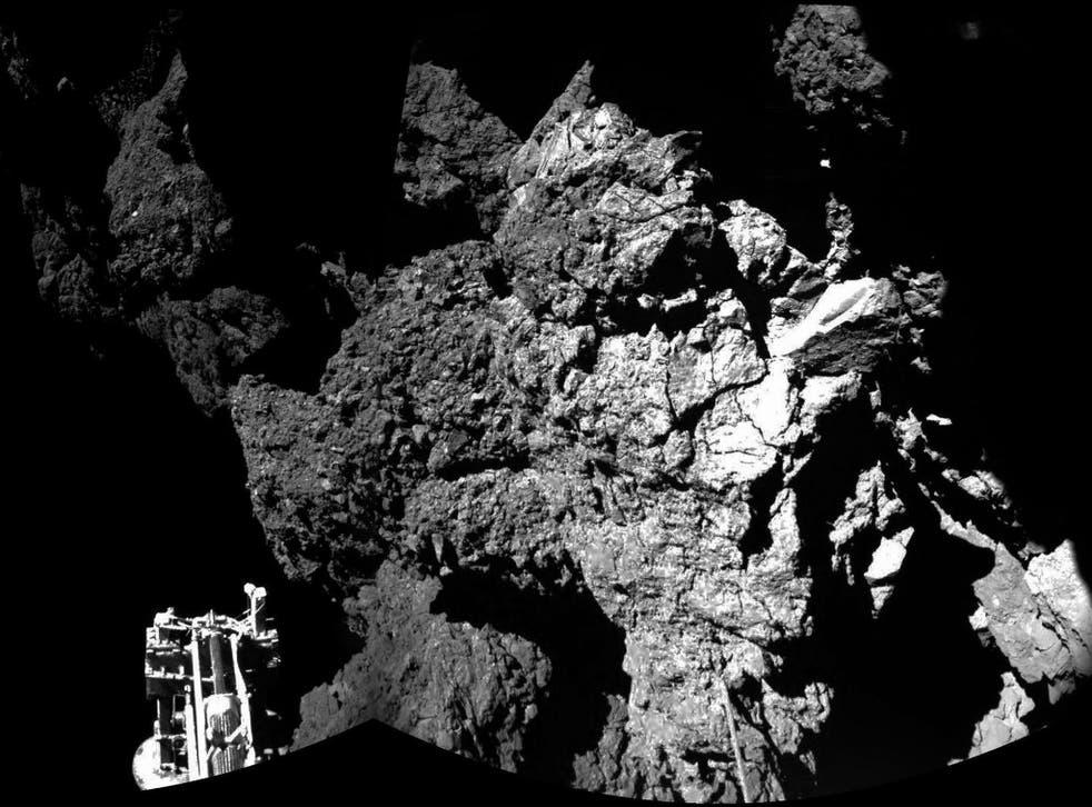 Rosetta's lander Philae is safely on the surface of Comet 67P/Churyumov-Gerasimenko
