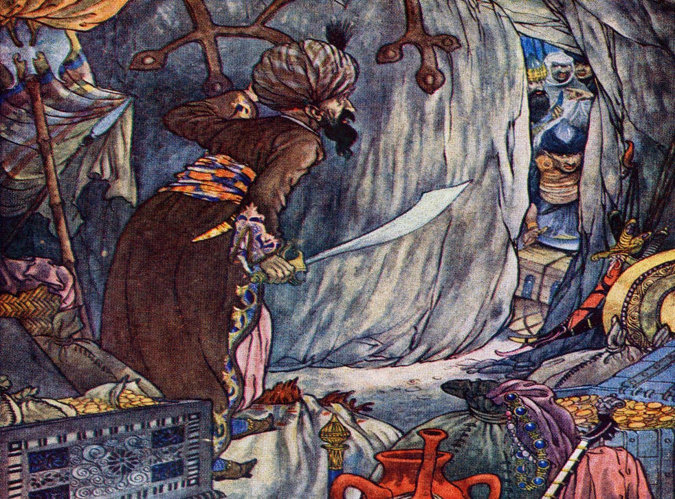 The History of Ali Baba and the Forty Thieves Illustration by Charles Folkard from The Arabian Nights (Hilary Morgan / Alamy)