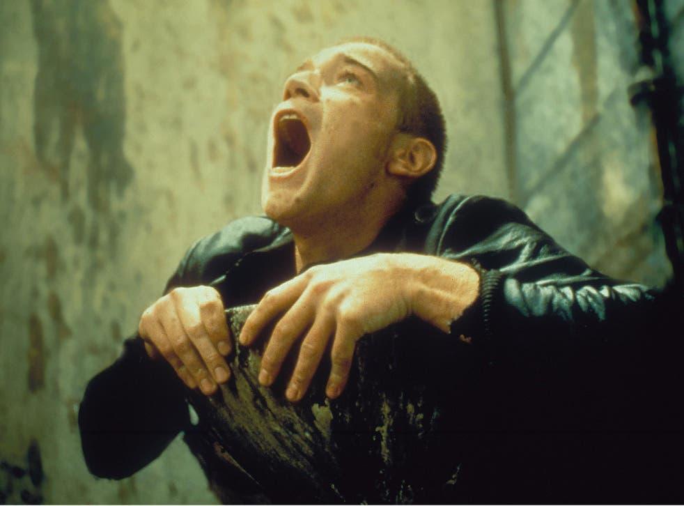 Ewan McGregor in the 'Worst Toilet in Scotland' scene from the film Trainspotting, 1996