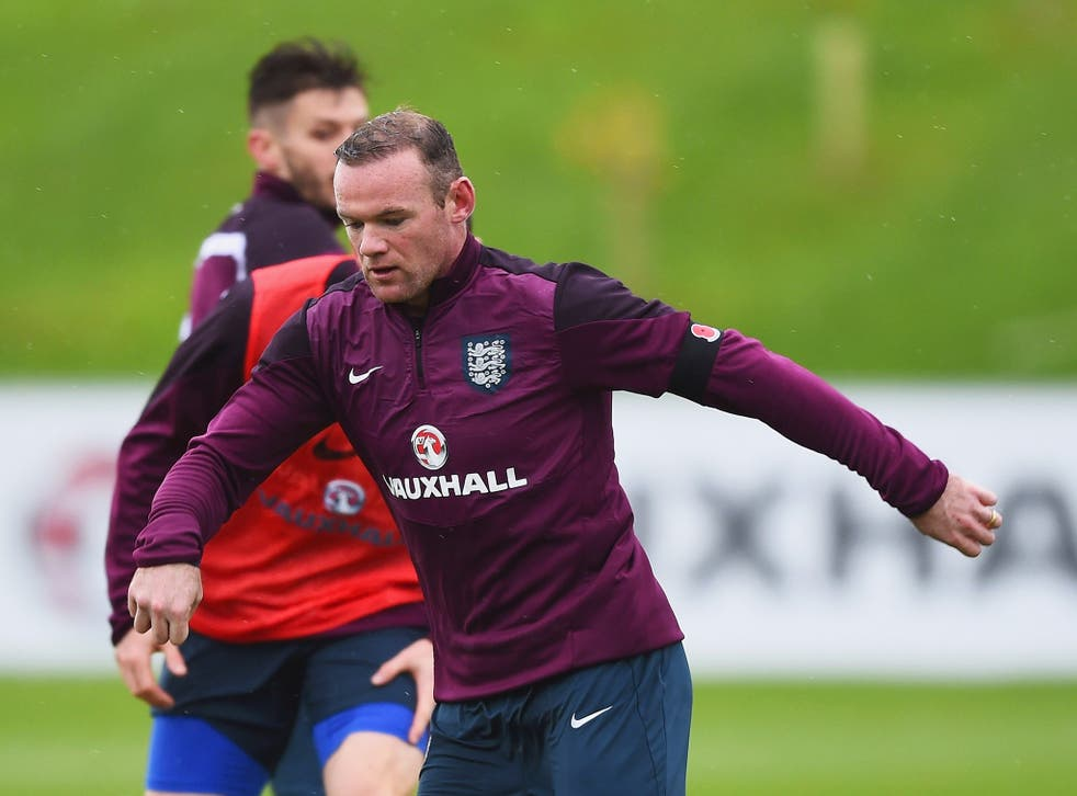 Wayne Rooney training with the England squad at St George's Park this week