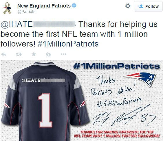 New England Patriots apologise after posting tweet with racial ...