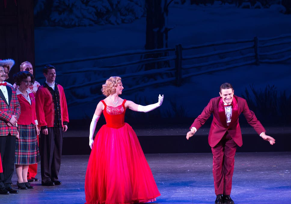 White Christmas Musical.White Christmas Theatre Review Aled Jones And Tom Chambers