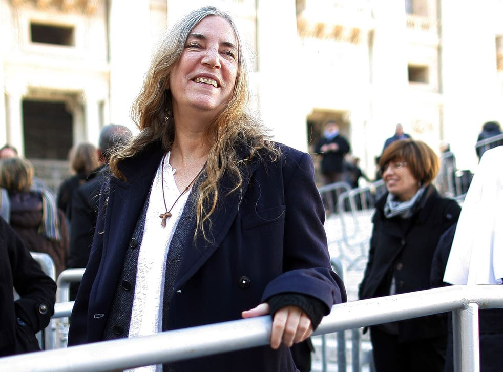 Singer Patti Smith attends Pope Francis' weekly Vatican audience in St. Peter's Square