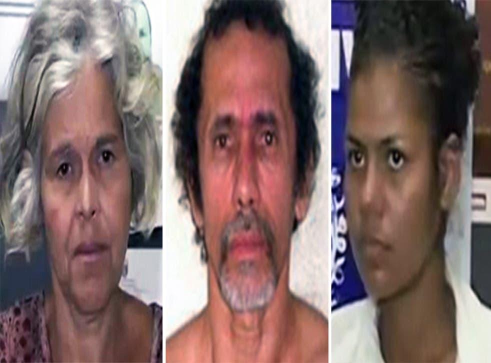 L-R Isabel Cristina Pires da Silveira, Jorge Beltrao Negromonte da Silveira and Bruna Cristina Oliveira da Silva