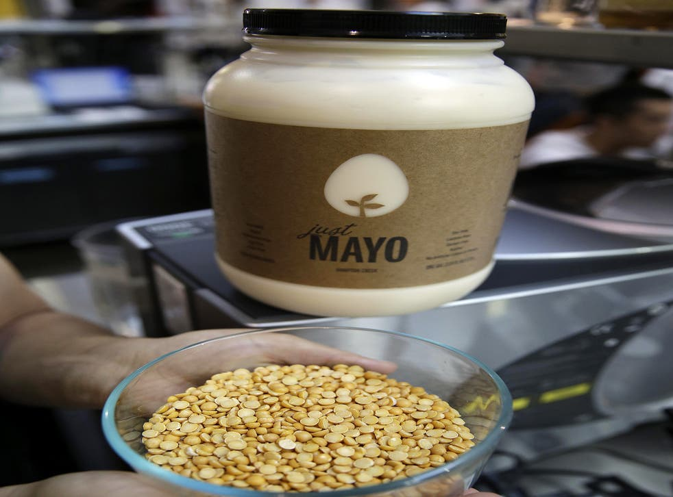 Battle of the brands... Hampton Creek's Just Mayo is an egg-free product made from yellow pea