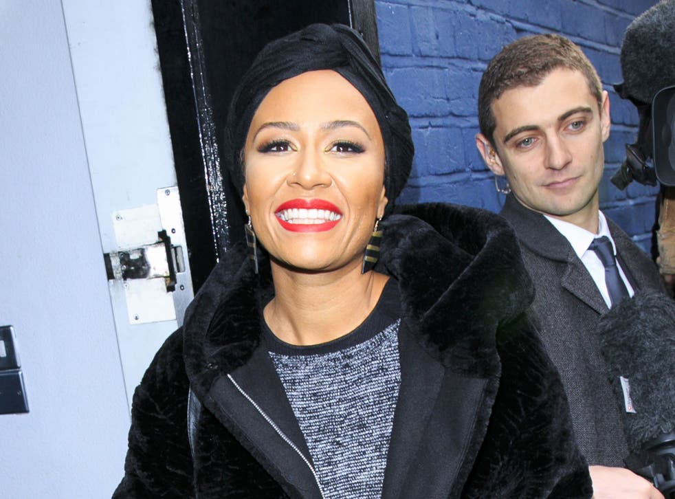 Emeli Sande, pictured as she arrives for the Band Aid 30 recording