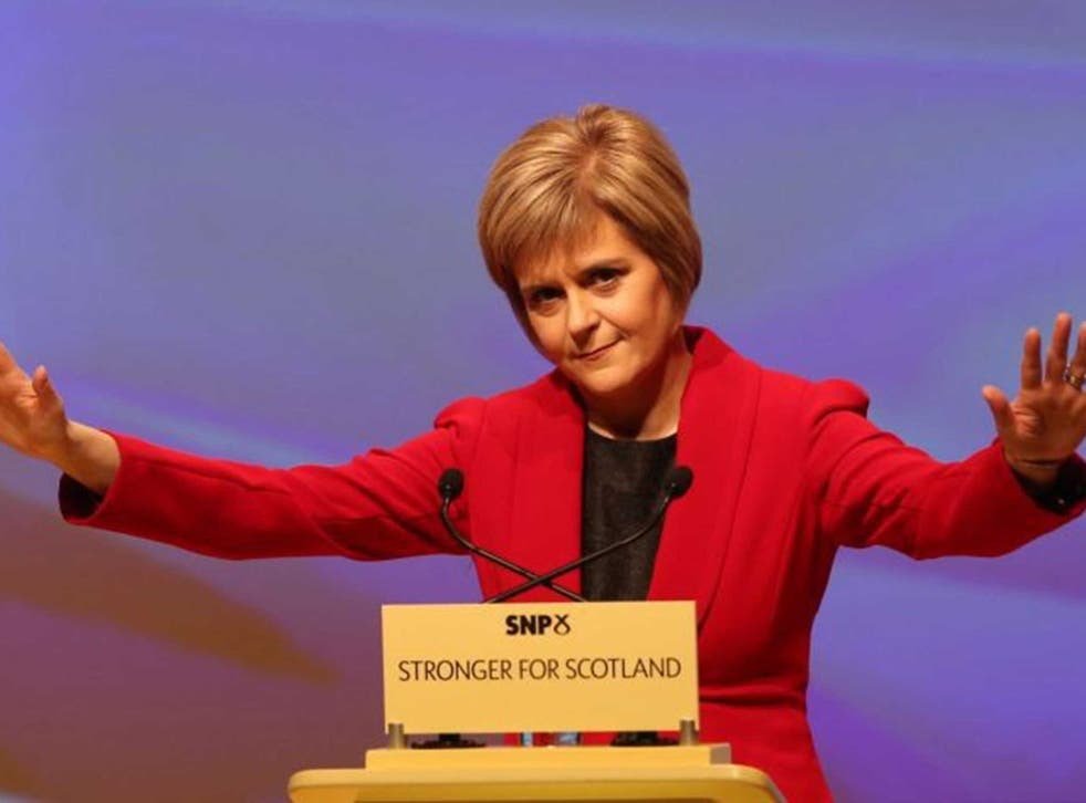 Nicola Sturgeon gives her first speech as leader of the SNP