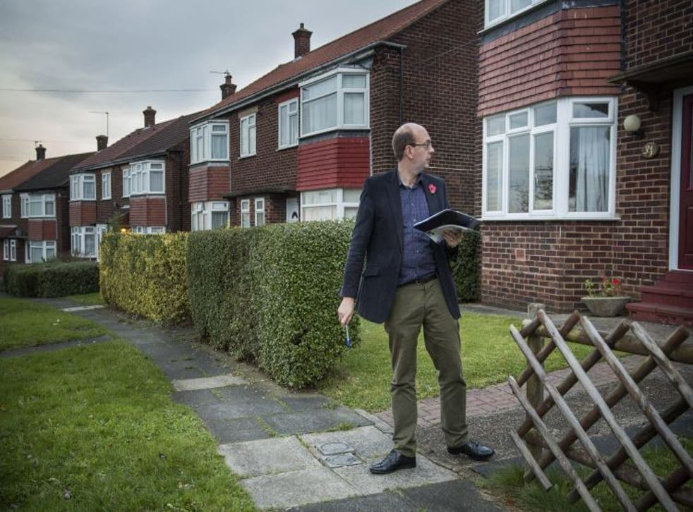 UKIP parliamentary candidate Mark Reckless campaigns in Rochester on November 4, 2014