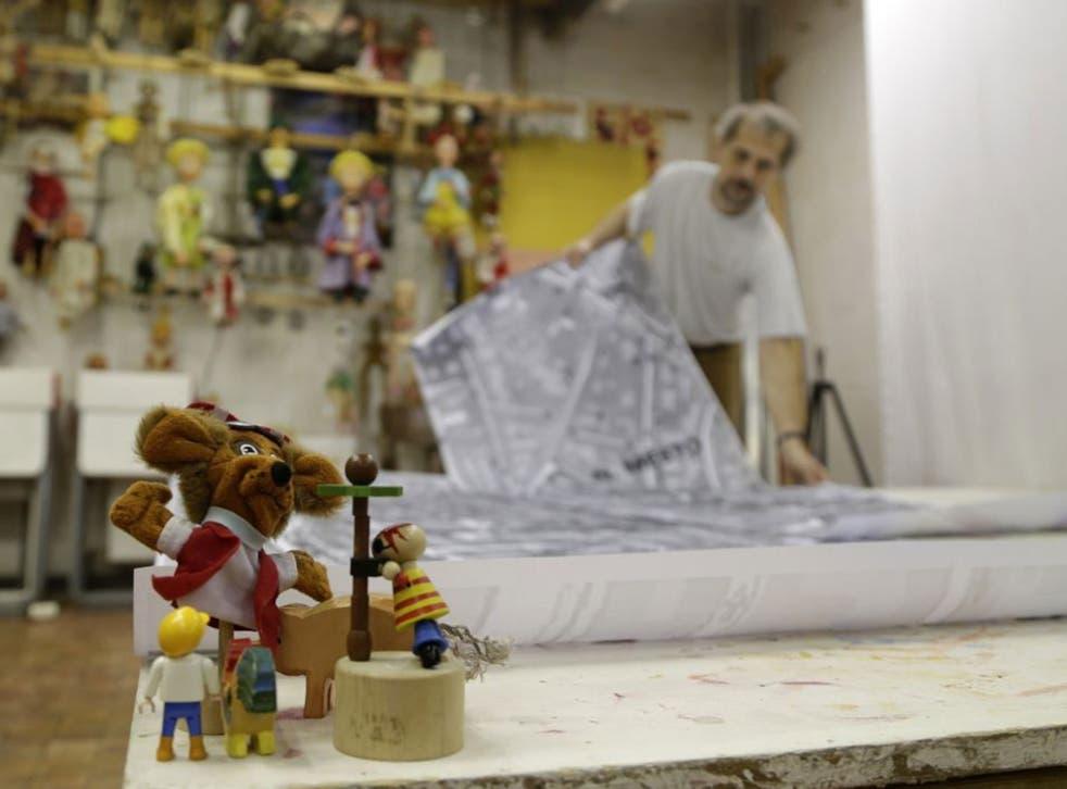 Miroslav Trejtnar prepares his animation 'What to Tell the Kids?'