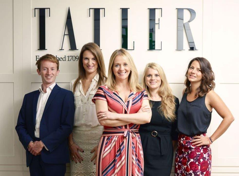 Glossy posse:  Editor Kate Reardon (centre) and team