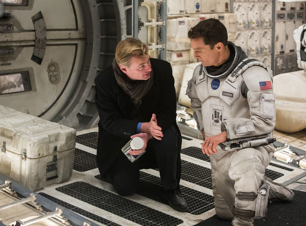 Christopher Nolan and Matthew McConaughey on the set of 'Interstellar'