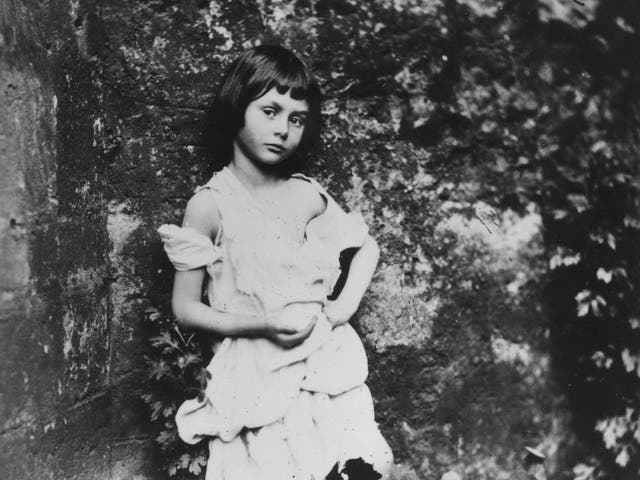 Alice Liddell, the inspiration for Lewis Carroll's 'Alice in Wonderland', posing as a 'beggar-maid' in 1858