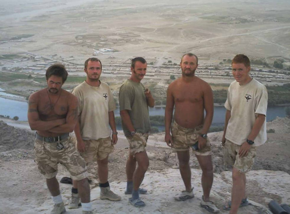 Line of duty: from left, Lt Cpl Stu Hale, Lt Cpl Chris Conn, Pte Dan 'Smudge' Smith, Cpl Stu Pearce and Pte Chris 'Jarhead' Harvey