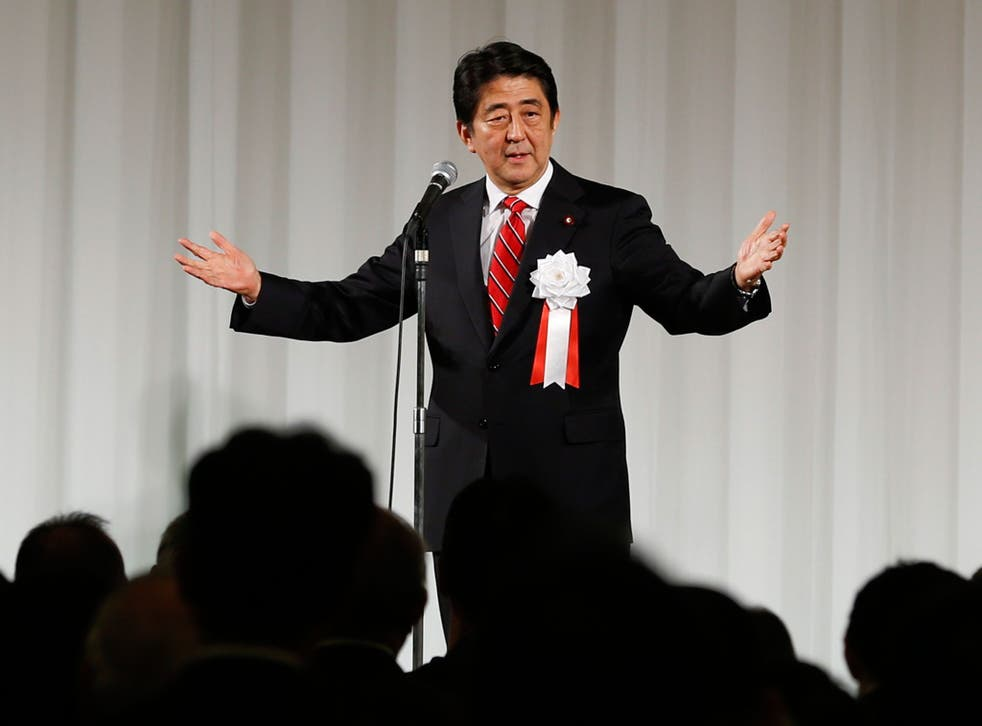 Blame for the return to recession has fallen on Shinzo Abe's decision to hike sales tax