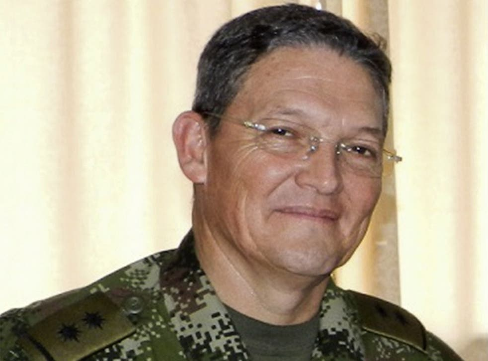 General Ruben Dario Alzate was taken captive on Sunday