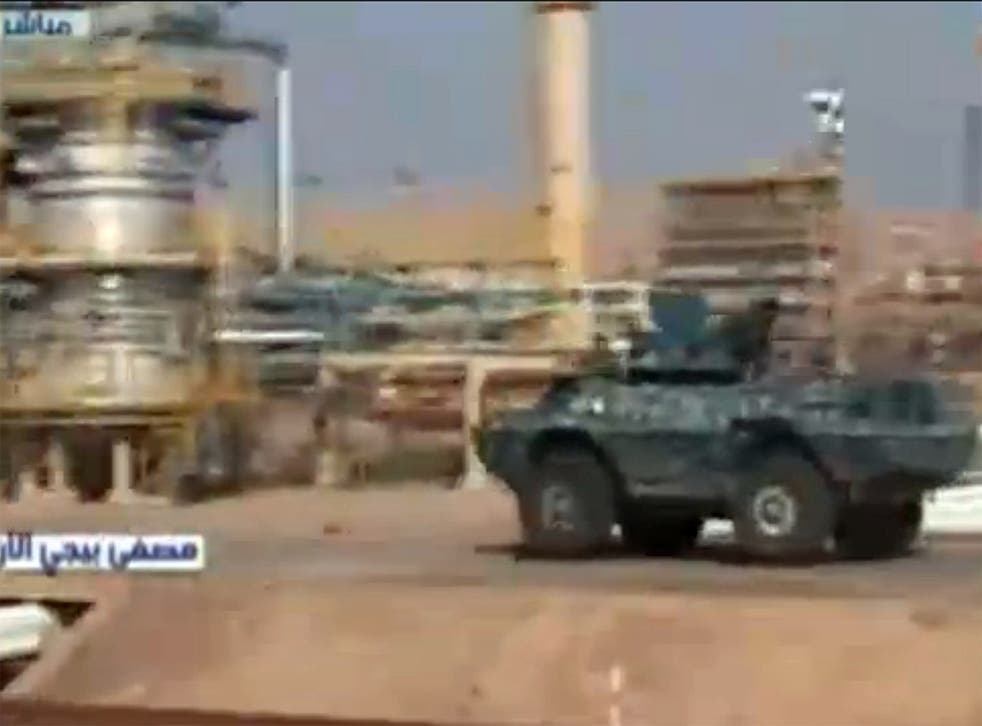 Iraqi forces have re-entered the refinery in the northern town of Baiji where retreating Isis fighters are said to have laid booby traps