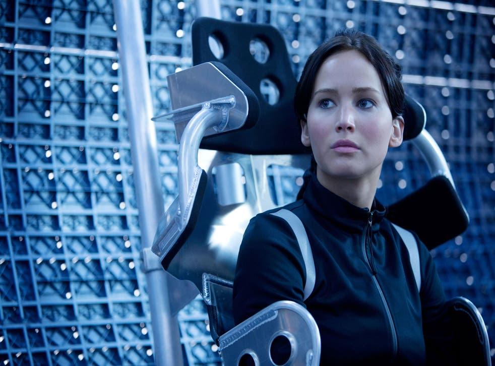 Jennifer Lawrence as Katniss Everdeen in The Hunger Games: Mockingjay Part 1