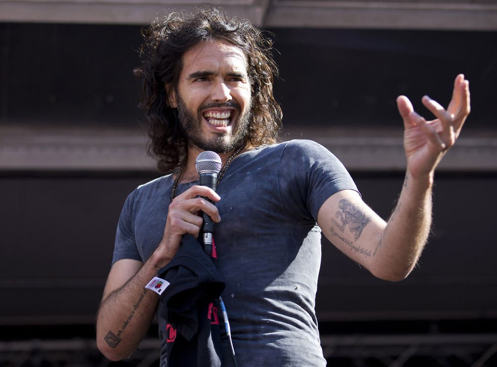 Comedian and self-styled revolutionary Russell Brand