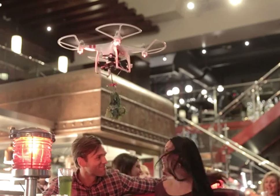 TGI Friday drone crashes into woman's face and cuts it open