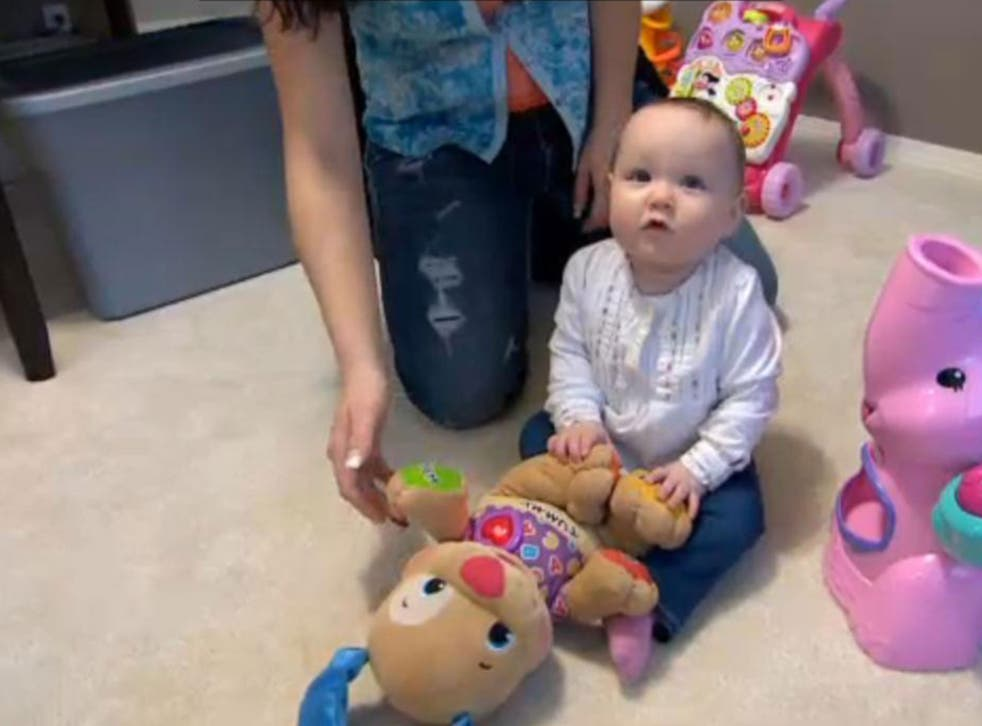 Baby Reece was born prematurely in Hawaii