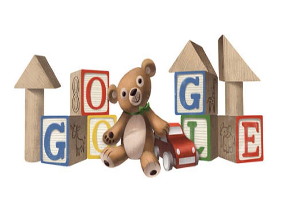 Google Doogle celebrating Universal Children's Day