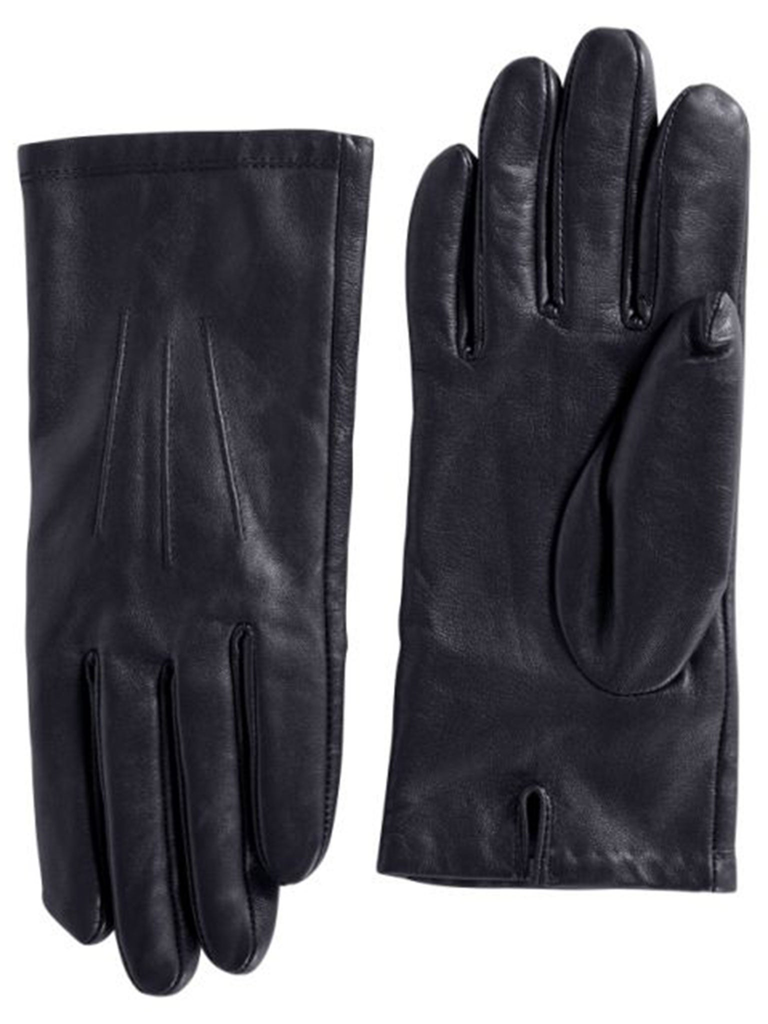 New Womens Driving Glove Soft Black Leather Thinsulate Lined Snap Close S Small