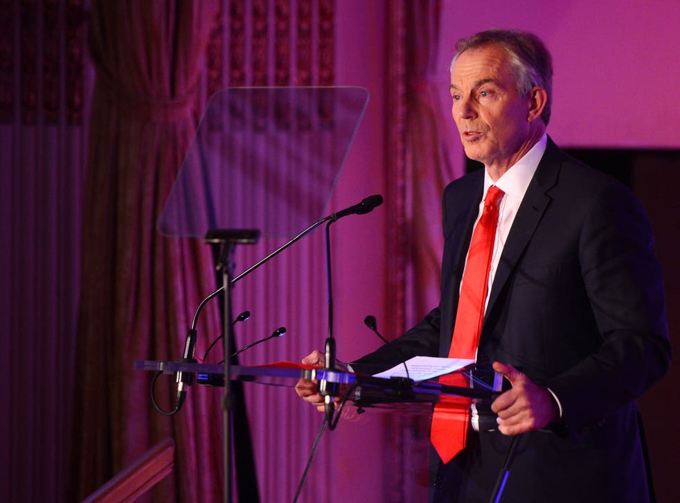 Tony Blair speaks on stage at the 2nd Annual Save The Children Illumination Gala
