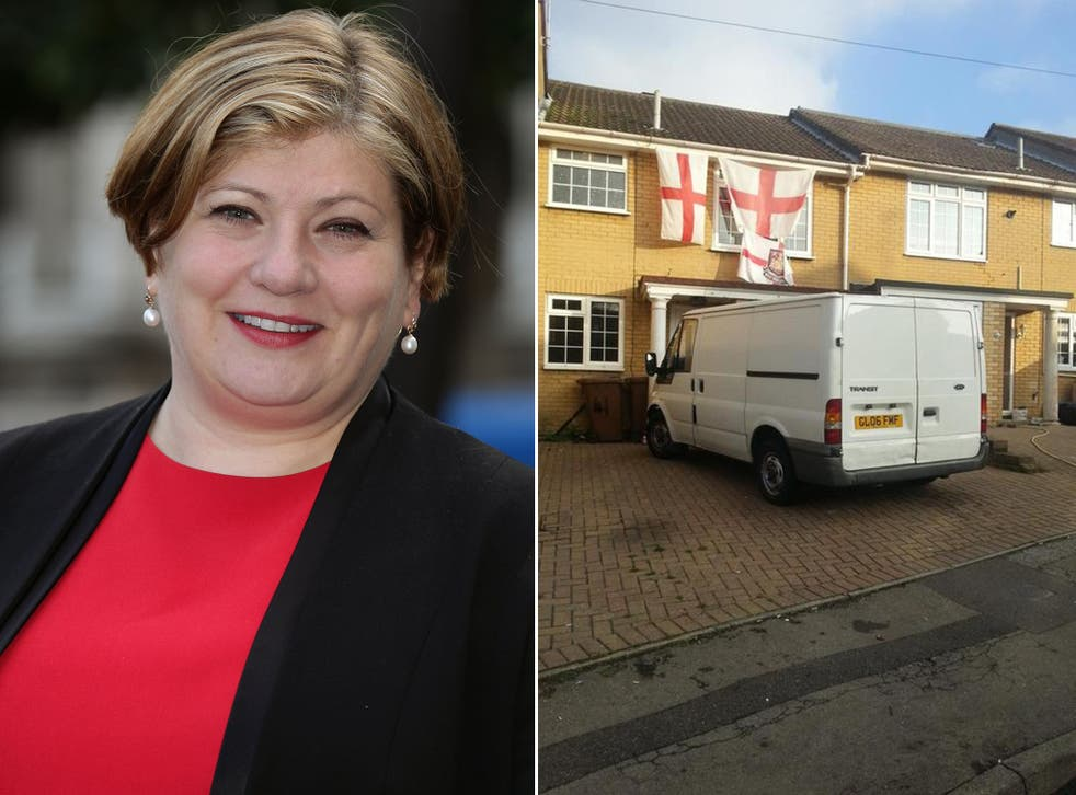 Former Shadow Attorney General Emily Thornberry and the image she tweeted from Rochester