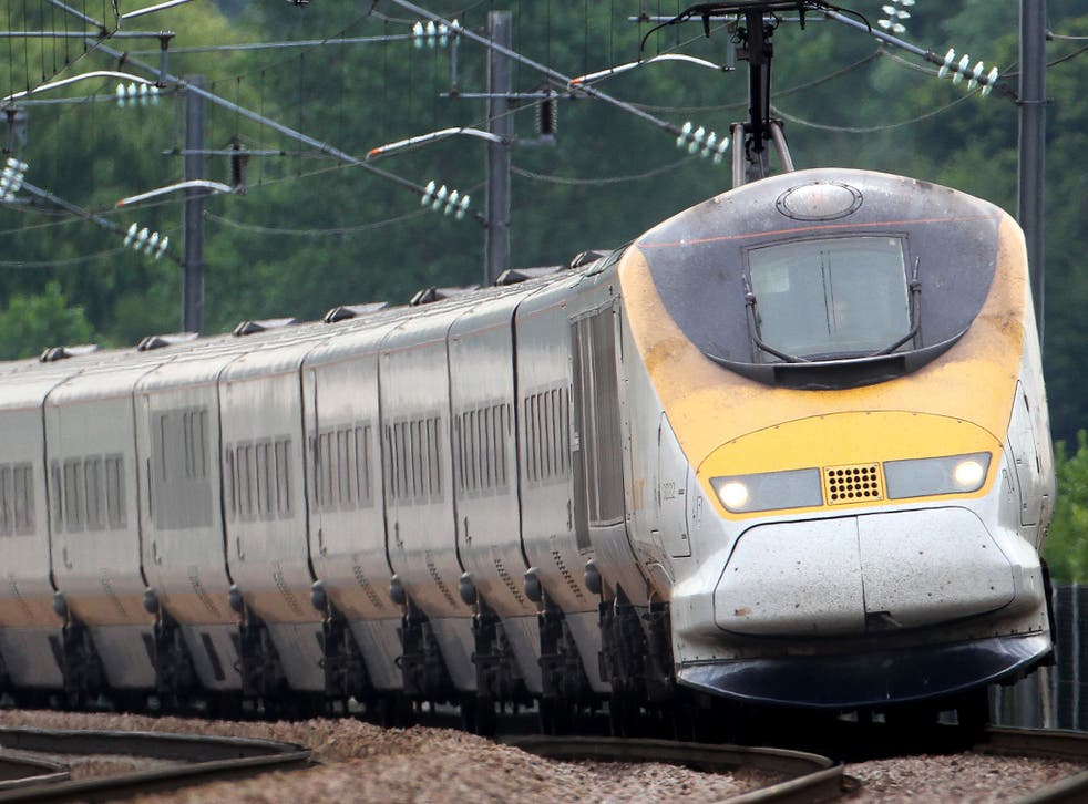 Eurostar trains have been cancelled after a person was hit by a train