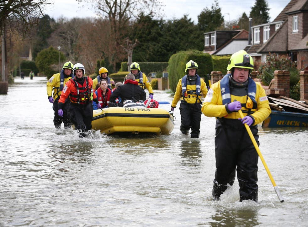 Floods force a family from their home in Wraysbury