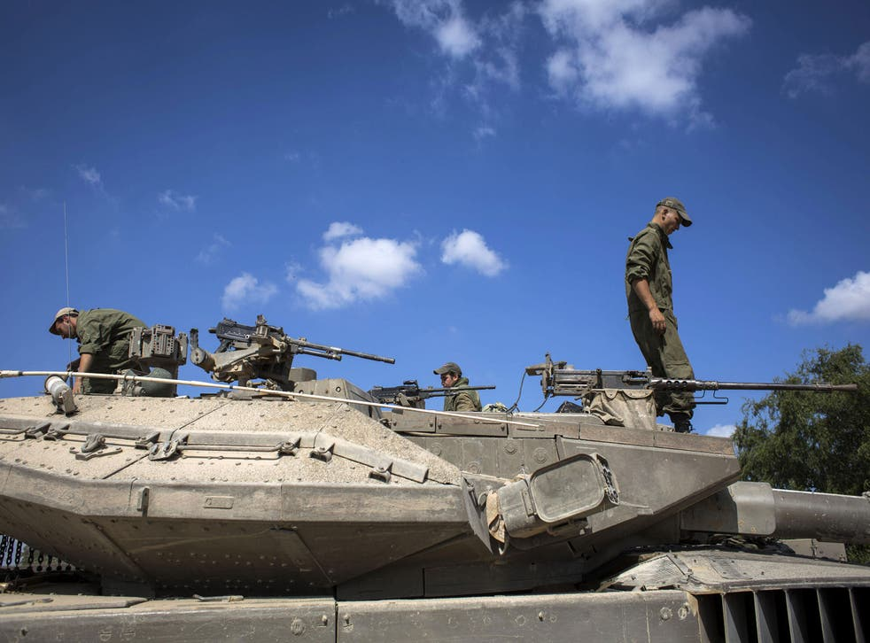 Israeli troops in Gaza (file picture)