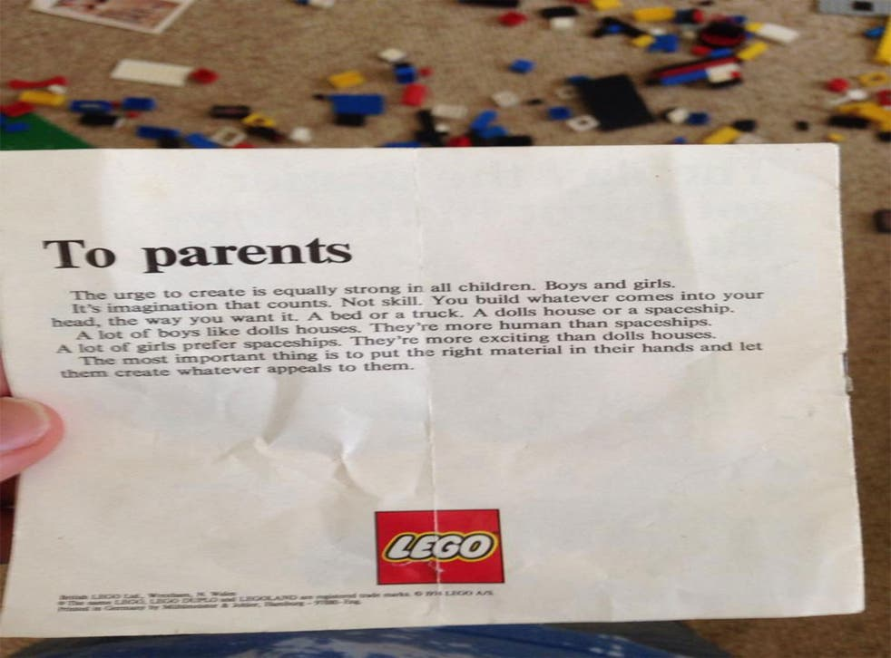 The letter, purported to be from the 1970s, offered a message of gender equality to parents