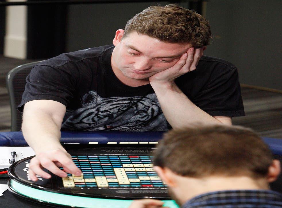 Scrabble champion Craig Beevers, 33, top, beat Chris Lipe from Clinton, New York