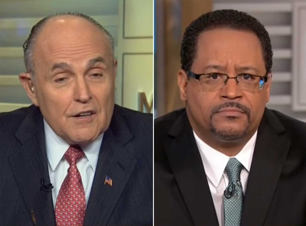 Rudy Giuliani squares up to Georgetown professor Michael Eric Dyson