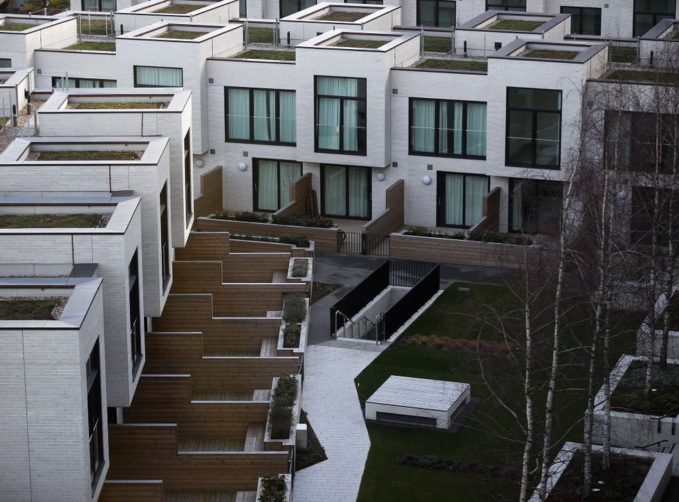 A general view of apartments at the newly transformed 'East Village' near the Olympic Stadium on March 5, 2014 in London, England.