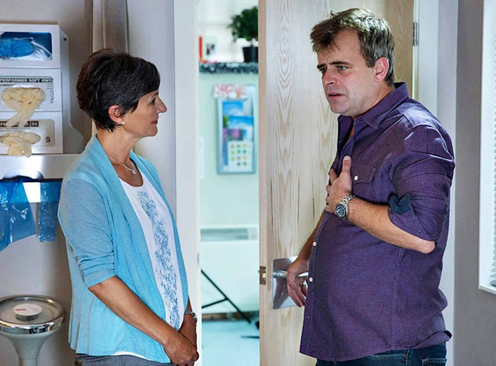 Community care: Simon Gregson as Steve McDonald in 'Coronation Street'