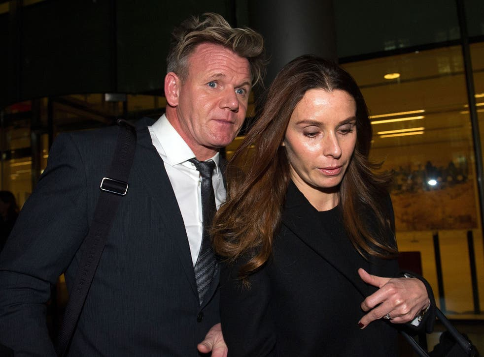 """Tana Ramsay gave evidence in a legal action in which her husband, Gordon, is accusing her father, Christopher Hutcheson, of using a ghost writer machine to """"forge"""" his signature"""